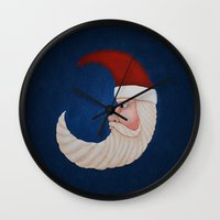 santa Wall Clocks featuring Santa  by Brandy Coleman Ford