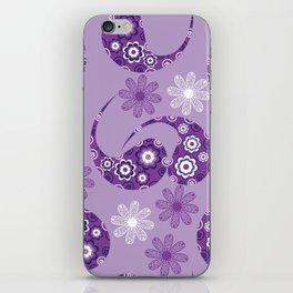 Lilac gentle modern Paisley  iPhone Skin