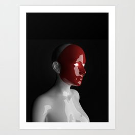 Red Facce — 02 Art Print