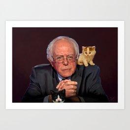 Bernie and the Kittens Return Art Print