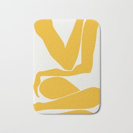 Yellow anatomy Bath Mat