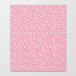 Postmodern Squiggles in Pink + Mint Canvas Print