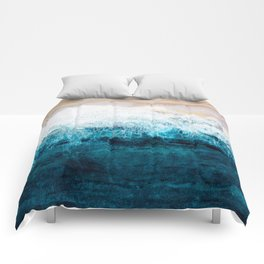 Watercolour Summer beach III Comforters