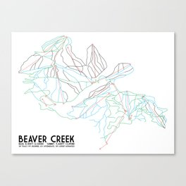 Beaver Creek, CO - Minimalist Trail Map Canvas Print