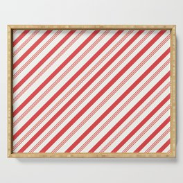 Candy Cane Peppermint Pattern Design  Serving Tray
