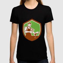 Shoemaker With Hammer Shoe Shield Retro T-shirt