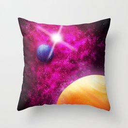 Purple Nebula Throw Pillow
