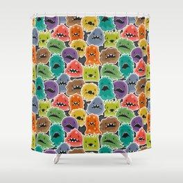 Monster Virus Pattern Shower Curtain