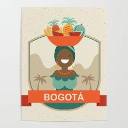 Bogota Retro Badge Poster