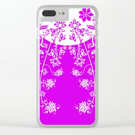 floral ornaments pattern wbp90 Clear iPhone Case