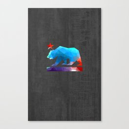 California State Bear (fractal colors) Canvas Print