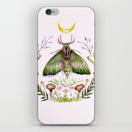 Pink Moth iPhone & iPod Skin