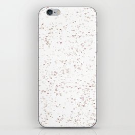 Love hearts on white Summer Chill iPhone Skin