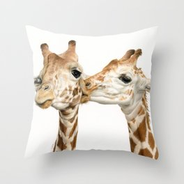 Smooches (Square Format) Throw Pillow