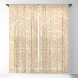 squiggle wiggles 007 Sheer Curtain