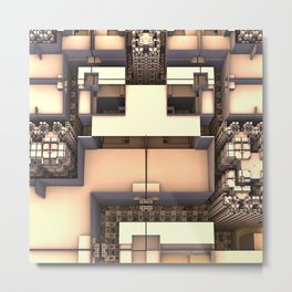 Multidimensional Rooms Metal Print