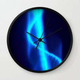 Spiraling Blue Wall Clock