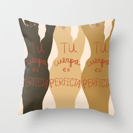 La Cuerpa Throw Pillow