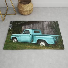 To Be Country - Vintage Truck Art Rug