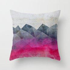 Pink Concrete Throw Pillow