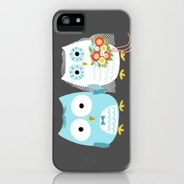 Owls Wedding Day | Bride and Groom iPhone Case