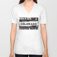 colorado V-neck T-shirts featuring Colorado by To Be Colorado
