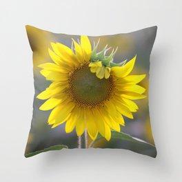Sunflower Square Throw Pillow