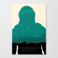 interstellar Canvas Prints featuring Interstellar by NickWR