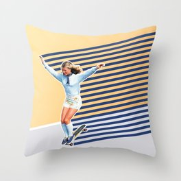 Skate Like a Girl 02 Throw Pillow