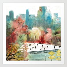 Wollman Rink Central Park Art Print
