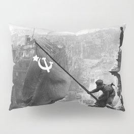 Raising a Flag over the Reichstag Pillow Sham