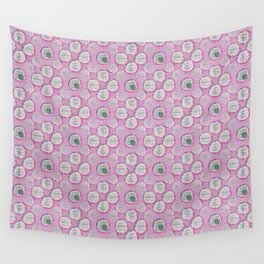 Uh Oh Ping Pong (Pink) Wall Tapestry