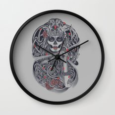 Madame Death Wall Clock