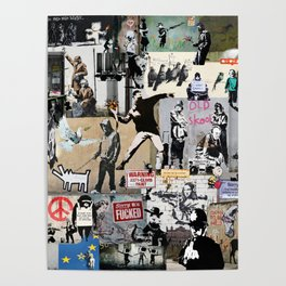 Banksy Collage Poster