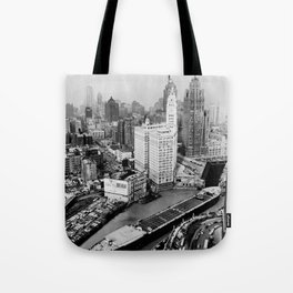 Largest travel Chicago River Chicago Illinois Tote Bag