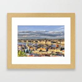 Budapest City View Framed Art Print