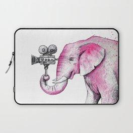 Filming Pink Elephant Laptop Sleeve