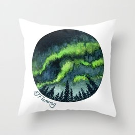Aurora Forest Throw Pillow