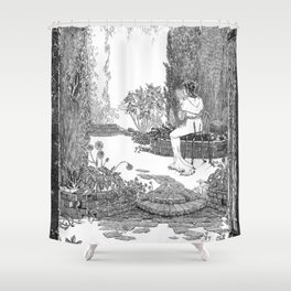 Le Jardin Secret Shower Curtain