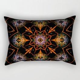 Floral Fractals Rectangular Pillow