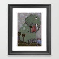 It's an Elephant! Framed Art Print