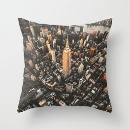 new york city aerial view Throw Pillow