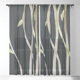 weeds Sheer Curtain