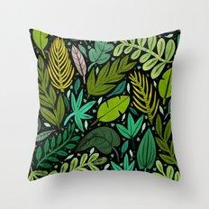 Green Scatter Throw Pillow