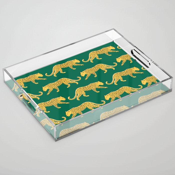 The New Animal Print - Emerald Acrylic Tray