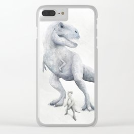 Trex Dinosaur Watercolor Clear iPhone Case