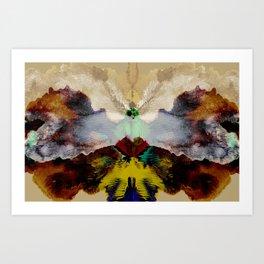 the peacock and the crane Art Print