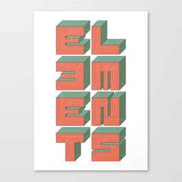 Elements Canvas Print