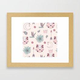 Modern Abstract Pattern Framed Art Print