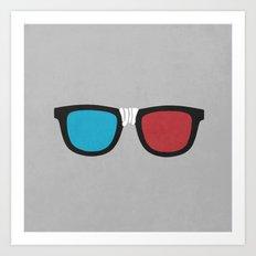 3D Geek Art Print